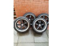 alpina 18 inch alloys with run flat tyres in good condition with deep alloys on back.