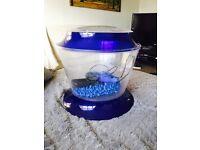 Blue kids fish tank with pump & accessories