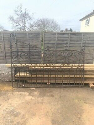 Large Vintage Gate Iron Forged ? 8' X4' Reclaimed