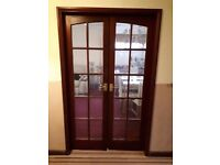 Hardwood Glazed Internal French Doors