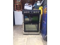 New World Dual-Fuel Cooker.. 60cm Wide.. Silver & Black.. RRP: £409.99 ** DELIVERY AVAILABLE **