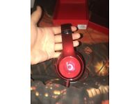 Genuine beats solo 2 headphones luxe edition red