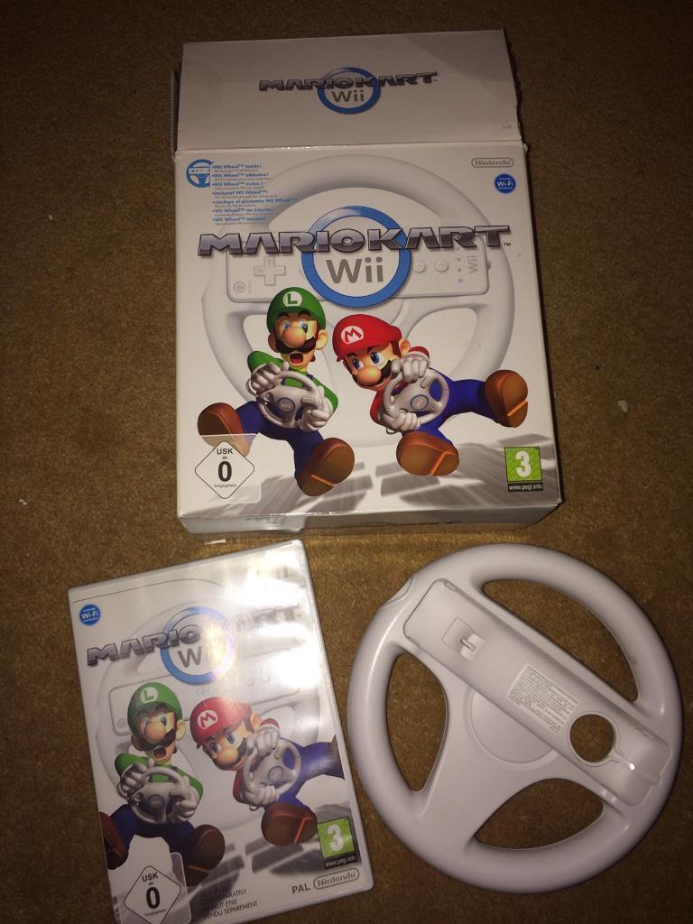 Boxed Mario kart Nintendo Wii