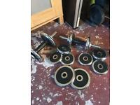 2x Metal weights (dumbbells)