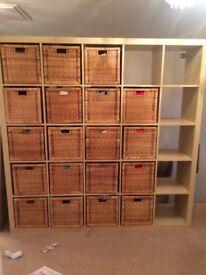Ikea storage unit with 19 baskets