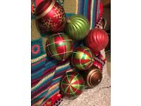 Christmas baubles big/medium and small