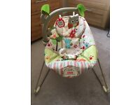 Fisher price woodsy & friends bouncy chair