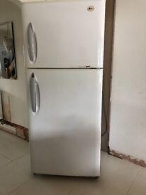 White LG American Express Cool Turbo fridge freezer