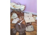Mamas & Papas Moses Basket- Zeddy Bundle