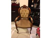 French style bedroom chair with gorgeous arms