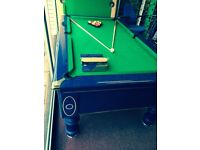 SUPREME PRINCE POOL TABLE RARE HI GLOSS BLUE 7 BY 4 NEW IN STOCK