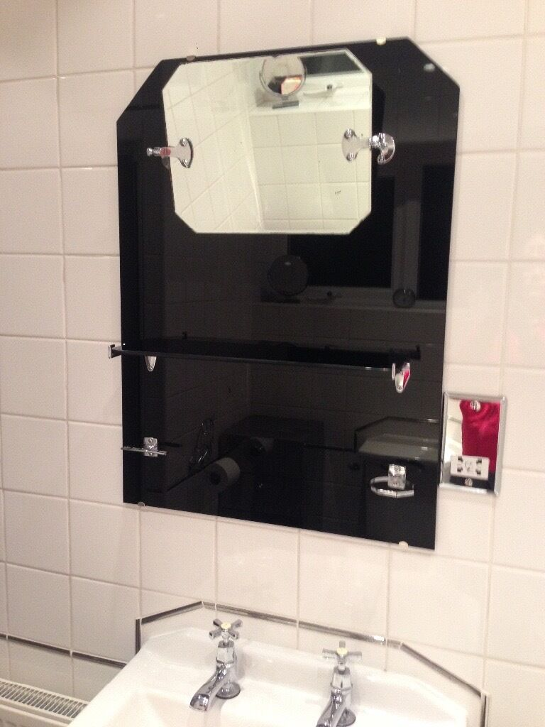 Bathroom Mirror Gumtree art deco vitrolite bathroom mirror | in bedworth, warwickshire