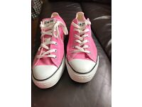 Ladies Pink Converse Trainers, Size 7