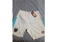 White Official West Ham united training shorts