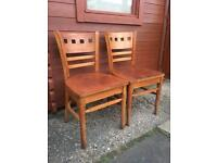 Pair of Quality solid dining chairs