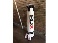 RDX 5ft punch bag and gloves