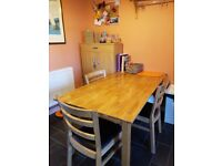 used kitchen table and chairs in fair condition