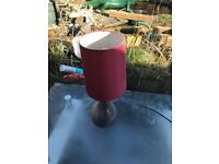 2x table lamps red