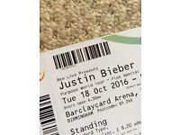 Justin Bieber Standing Tickets Barclaycard Arena Birmingham