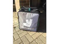 Deliveroo backpack and thermal bag