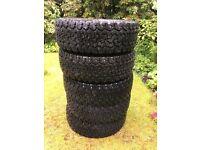 All Terrain Goodrich tyres - LT265 / 70 R17 112/109R - 5 tyres almost new