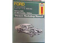 Haynes Ford Capri Mark 1 1600ohc 1972-1974 Workshop Manual