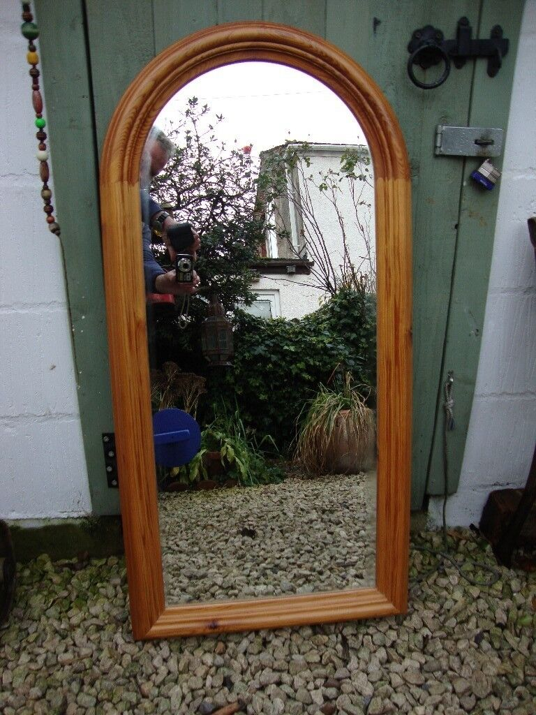 Solid Pine Arched Framed Wall Mirror In Hull East