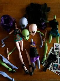 3 Build your own Monster High Dolls.