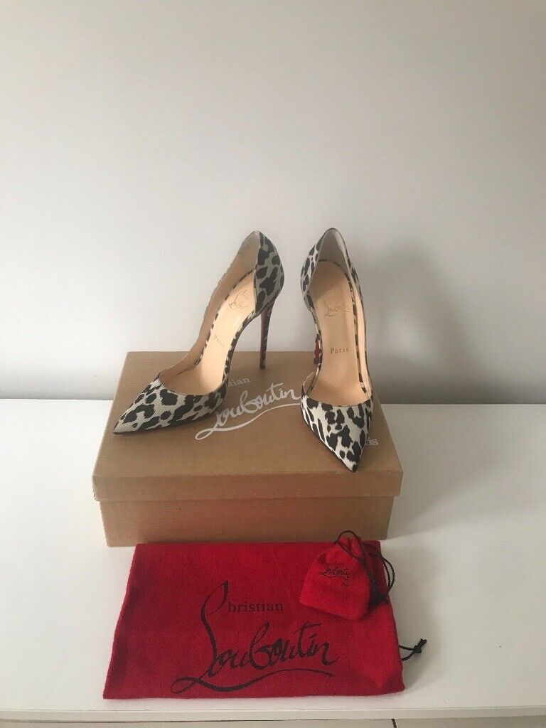 wholesale dealer 6b724 17f9c Christian Louboutin black and white leopard silk heels / pumps, size 37 |  in Maida Vale, London | Gumtree