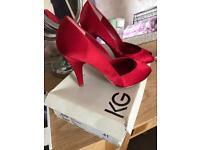 Kurt Geiger Red Satin Heeled shoes