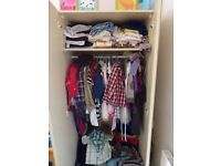 Very steady Wardrobe and Chest of 5 draws, in lovely condition. Wardrobe has a top shelve.