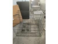 Large dog cage with base