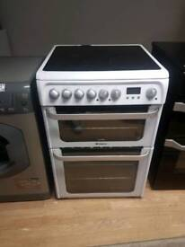 HOTPOINT ULTIMA DOUBLE OVEN ELECTRIC COOKER 60CM WIDTH WHITE