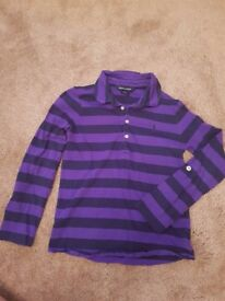 Girls Ralph Lauren long sleeve shirt Size 6. Nice and clean and in good condition.