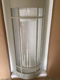 solid oak glazed curved kitchen cabinet door