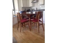 Stylish Vintage Extendable Dining Table and 4 original chairs