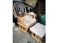 Rocking Chair and stool in good condition