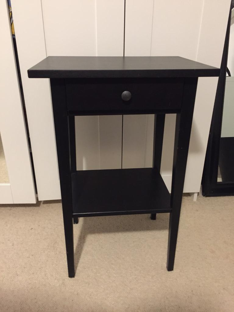 2 X Ikea Black Bedside Tables