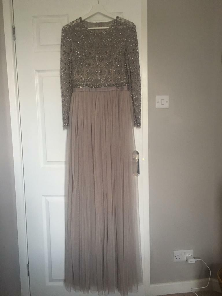 2eec637adac BRAND NEW Needle   Thread Andromeda Maxi Dress grey taupe nude size 10
