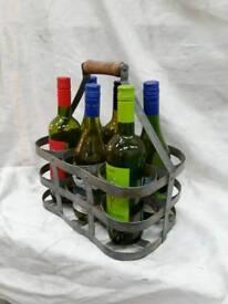 French vintage wine bottle holder