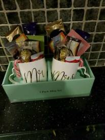 double cup hamper Mr & Mrs