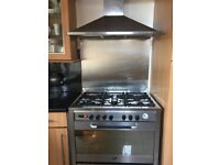 Stainless steel chimney style cooker hood