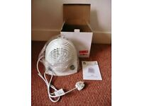 White RS Pro FH-502 1700-2000W Upright Floor Fan Heater with Adjustable Thermostat