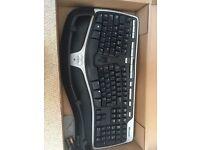 """Mircosoft """"Natural"""" wireless ergonomic keyboard 7000"""