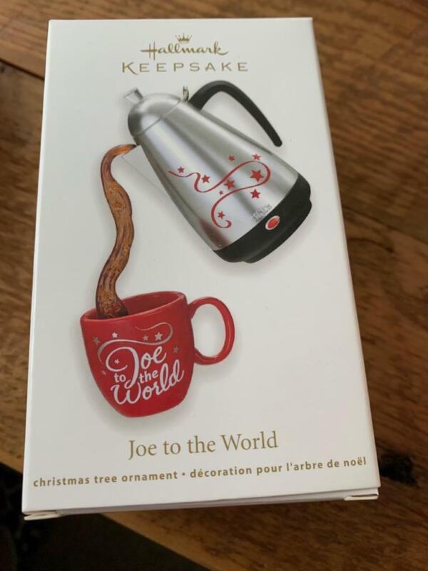 Hallmark Keepsake Ornament 2011 Joe to the World Coffee Caraffe Red Cup NIB