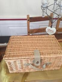 Lovely picnic basket set for four