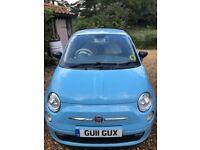 2011, Fiat 500 Pop, Blue, Start/Stop, £0 Road Tax