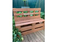 Garden Bench with Lord of The Rings Quote