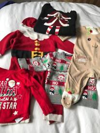 Baby Christmas clothes bundle, maternity jumper