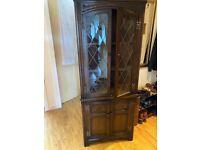 Corner cabinet. Beautiful dark colour